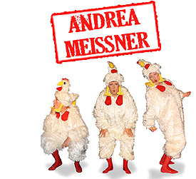 Comedykünstlerin Schauspielerin und Kabarettistin Andrea Meissner  - Ab März 2010 Ab März 2010 Die Gerüchtsvollzieherin im Programm Frau Meissner Gerüchteküche Ab Oktober 2011 Das letzte Gerücht neues von der Gerüchtsvollzieherin!