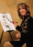 Jordan Monika  Monika Jordan, Schnellzeichnerin Porträtisten