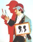 Stier Reinhold  Schnellporträts, Scherenschnitte, Scherenschnitt-Porträts, Scherenschnittkünstler, Scherenschneider Scherenschnitt