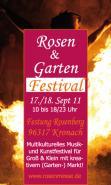 Kober Stefanie  Rosen- und Gartenfestival Kronach - sucht Multikulti Straßenkünstler und -musiker, Feuergaukler, Artisten Musikfestivals Wettbewerbe