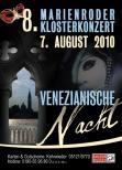 Gnauert Jochen  Kulturgipfel - sucht für VENEZIANISCHE NACHT am 7.8.2010  junge herausragende Akrobaten, Feuerkünstler, Jongleuere, Maskentänzer, Comedia dell´arte-Künstler. Konzertmusiker Wettbewerbe