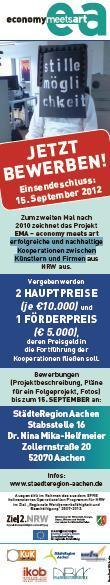 Mika-Helfmeier Dr. Nina  Ausschreibung zum Wettbewerb EMA - economy meets art - Einsendeschluß ist der 15.09.2012  Wettbewerbe