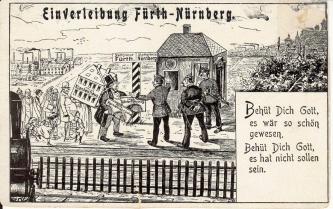 Vor 100 Jahre wäre es fast dazu gekommen, dass Fürth als selbständige Stadt nicht mehr ...